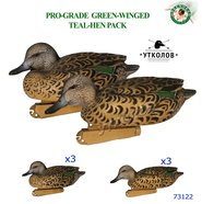 "Комплект чучел утки ""Чирок-свистунок Pro-Grade Green-Winged Teal-Hen Pack №73122"" (GreenHead Gear)"